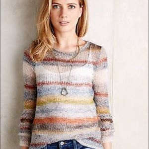 Anthropologie Moth Horizontal Striped Sweater